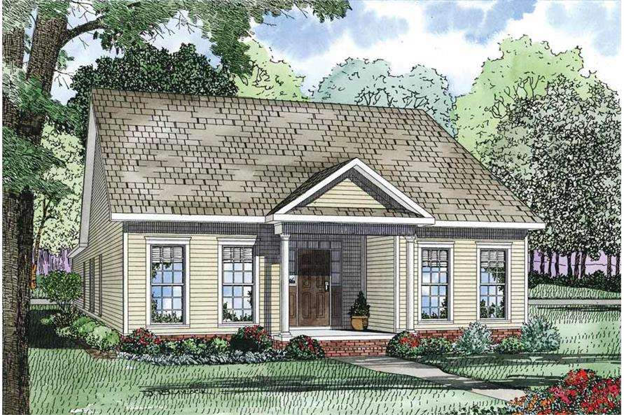 3-Bedroom, 1734 Sq Ft Country House Plan - 153-1083 - Front Exterior