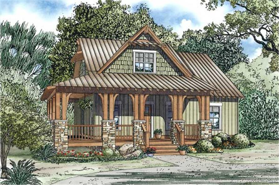 3-Bedroom, 1374 Sq Ft Country Home Plan - 153-1085 - Main Exterior