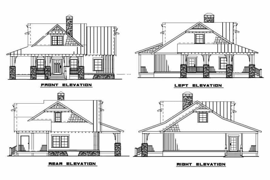 Home Plan Other Image of this 3-Bedroom,1374 Sq Ft Plan -153-1085