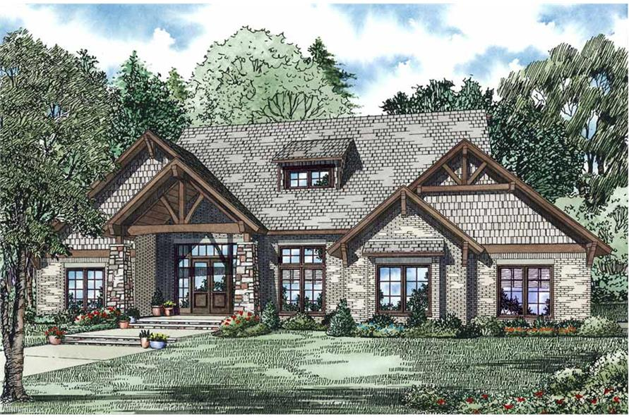 Front Door of this 4-Bedroom,3580 Sq Ft Plan -3580