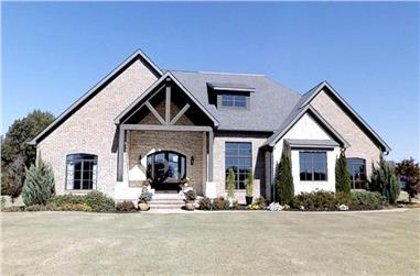 4-Bedroom, 3580 Sq Ft Country Home Plan - 153-1090 - Main Exterior