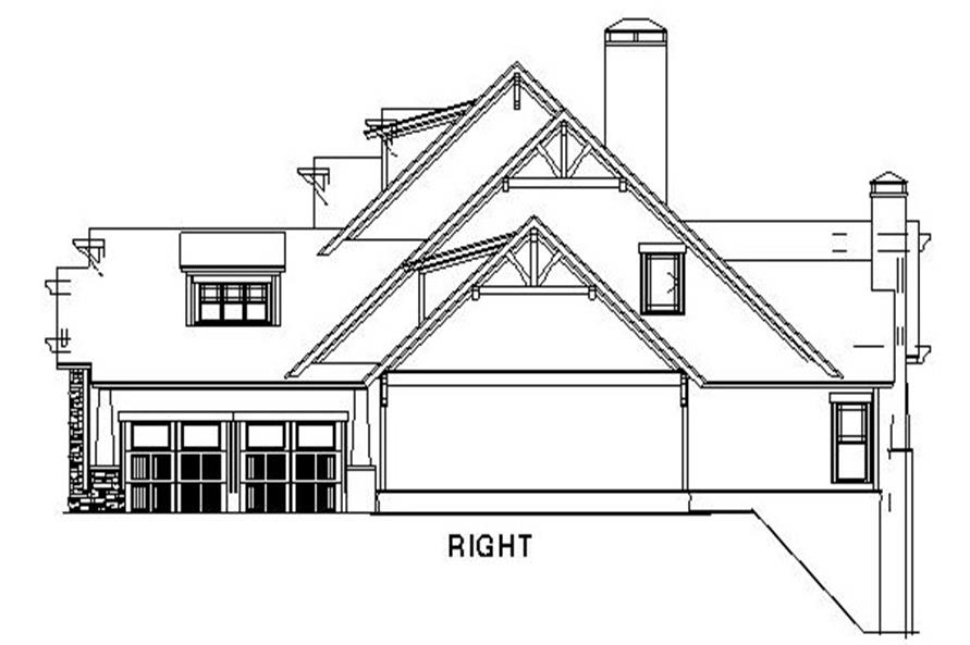 Home Plan Right Elevation of this 4-Bedroom,3783 Sq Ft Plan -153-1092