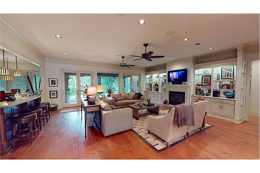 Family Room of this 4-Bedroom,3766 Sq Ft Plan -153-1095