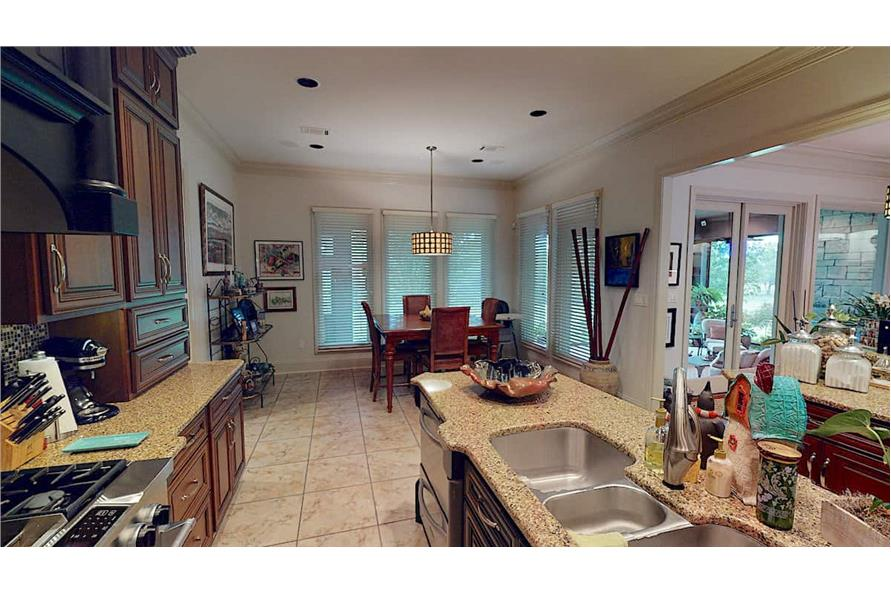 Kitchen: Breakfast Nook of this 4-Bedroom,3766 Sq Ft Plan -153-1095