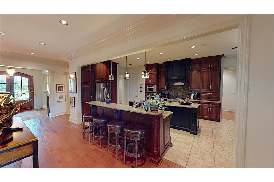 Kitchen: Breakfast Bar of this 4-Bedroom,3766 Sq Ft Plan -153-1095