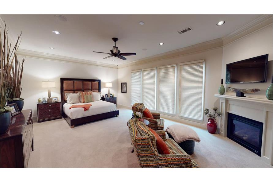 Master Bedroom: Fireplace of this 4-Bedroom,3766 Sq Ft Plan -153-1095