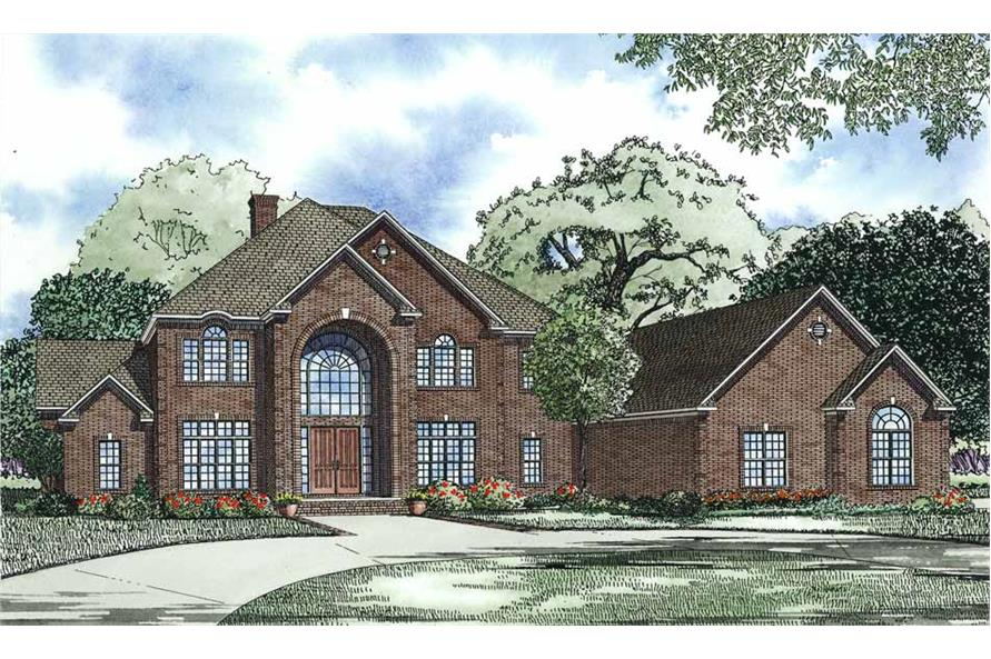 6-Bedroom, 9636 Sq Ft European Home Plan - 153-1096 - Main Exterior