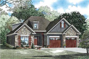 3-Bedroom, 1738 Sq Ft Craftsman House Plan - 153-1097 - Front Exterior