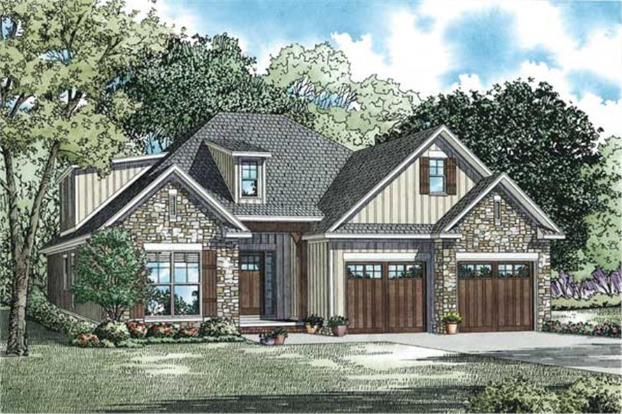 2457 Sq Ft Craftsman Plan with
