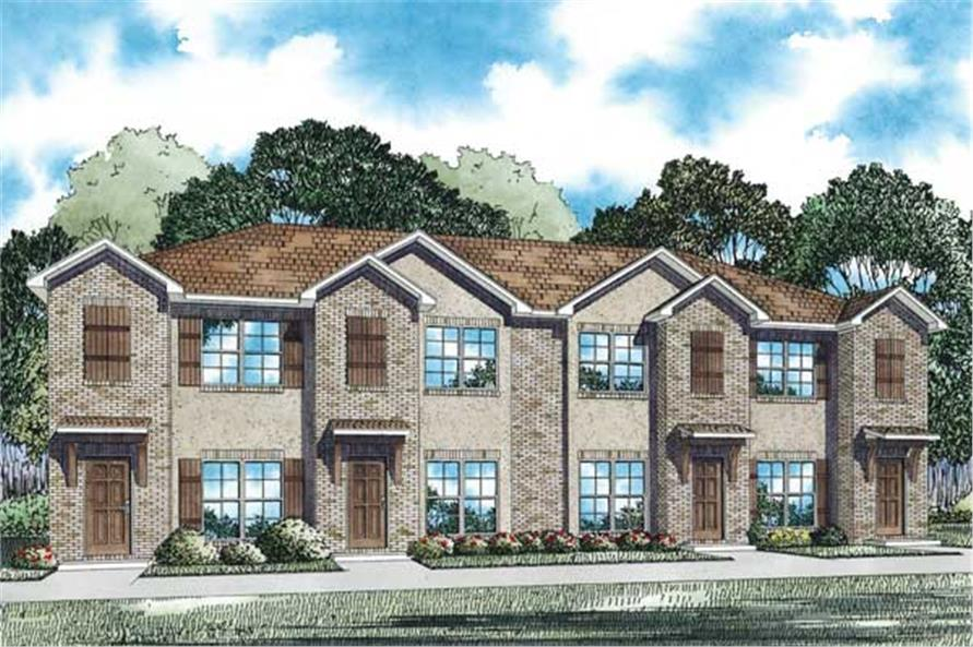 Home Plan 3D Image of this 2-Bedroom,1053 Sq Ft Plan -153-1100