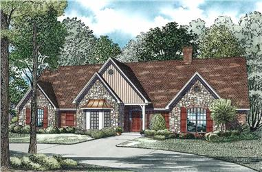 5-Bedroom, 4303 Sq Ft Home Plan - 153-1102 - Main Exterior