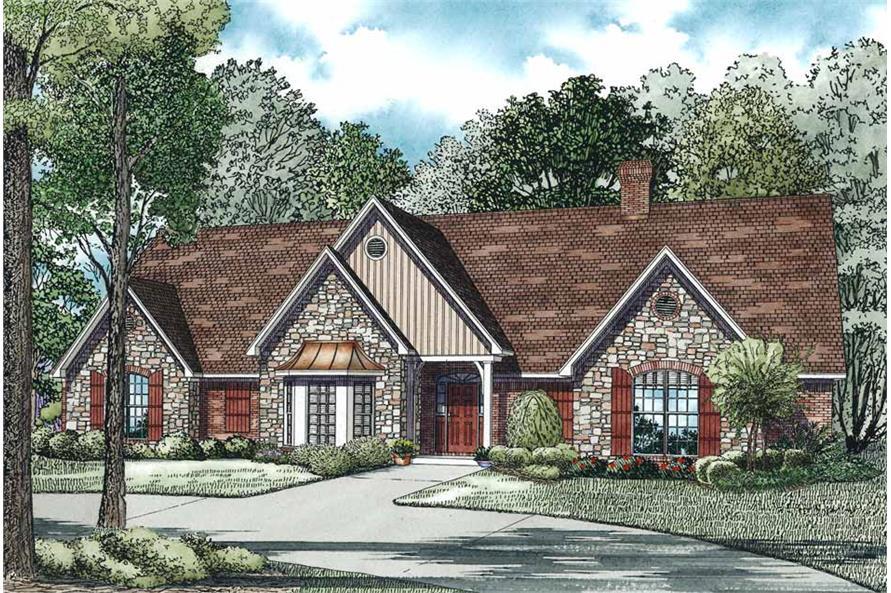 5-Bedroom, 4303 Sq Ft Home Plan - 153-1102 - Main Exterior