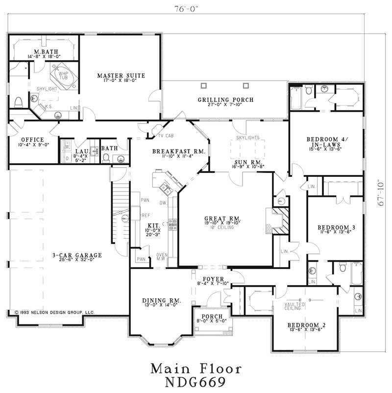 Main Floor Plan NDG-669