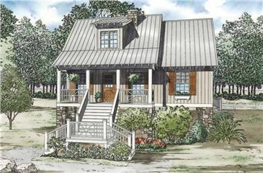 3-Bedroom, 1379 Sq Ft Ranch Home Plan - 153-1111 - Main Exterior