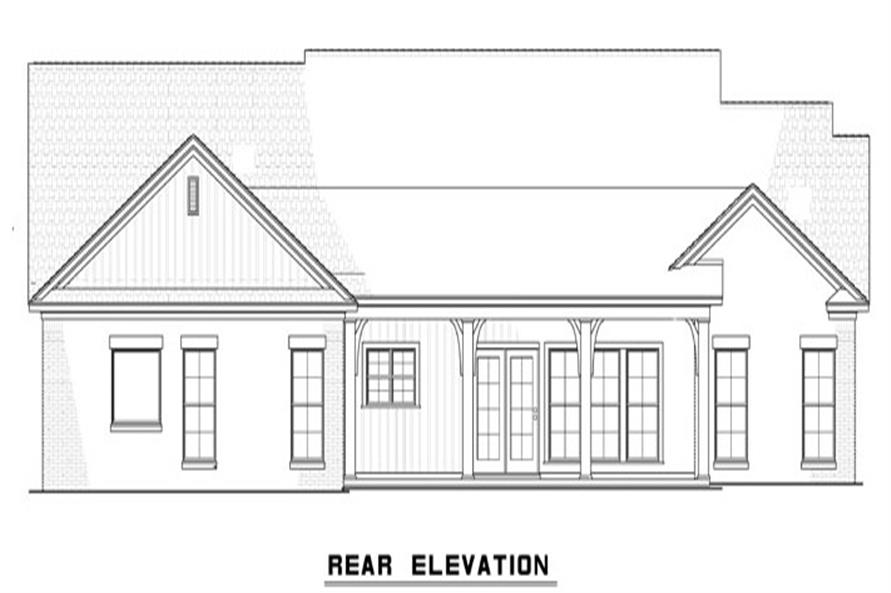 153-1115: Home Plan Rear Elevation