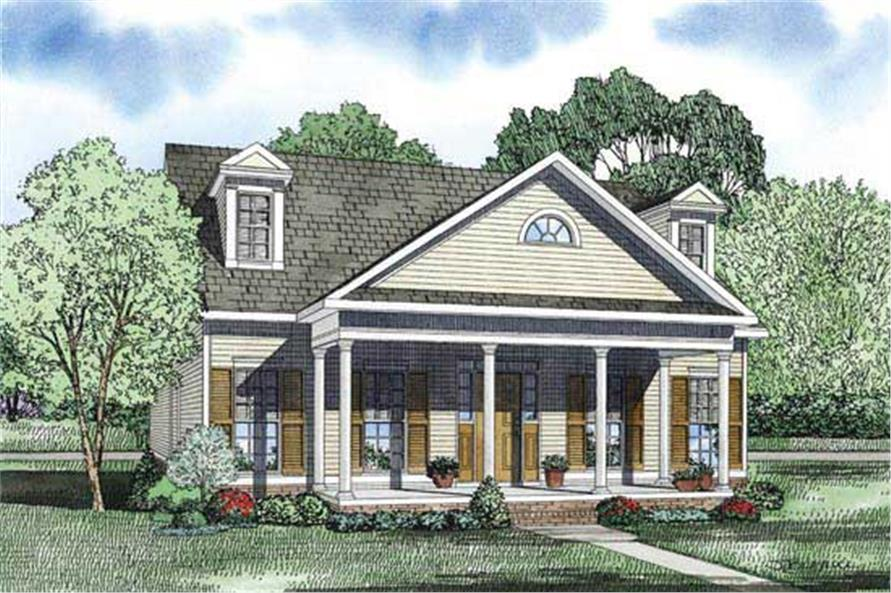 2-Bedroom, 1721 Sq Ft Country Home Plan - 153-1118 - Main Exterior
