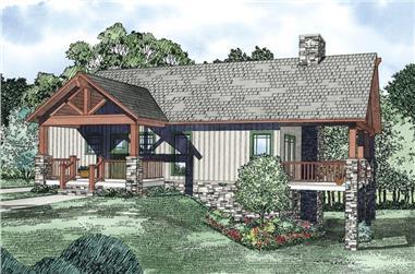 3-Bedroom, 2733 Sq Ft Rustic Home Plan - 153-1119 - Main Exterior