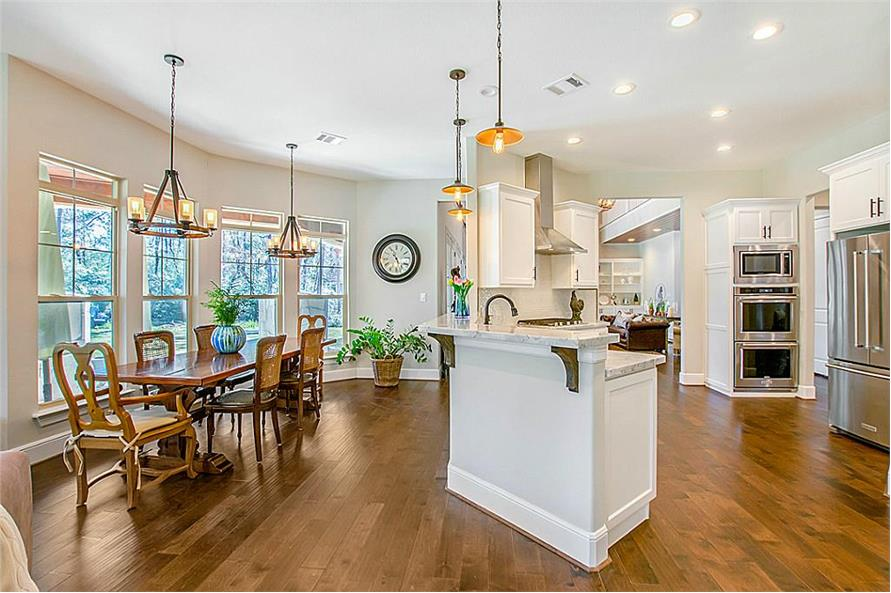 Kitchen: Breakfast Nook of this 5-Bedroom,4501 Sq Ft Plan -4501