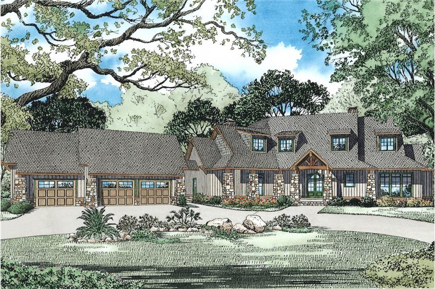 Home Plan Rendering of this 5-Bedroom,4501 Sq Ft Plan -4501
