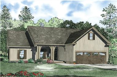 3-Bedroom, 1621 Sq Ft Ranch Home Plan - 153-1122 - Main Exterior