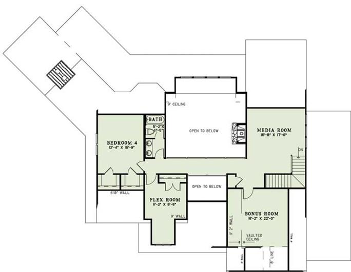 Floor Plan Second Story Of Country 153 1123