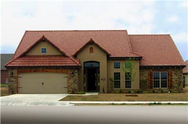 3-Bedroom, 2110 Sq Ft Tuscan House Plan - 153-1125 - Front Exterior