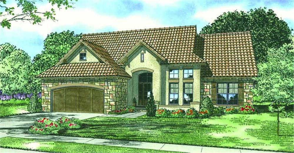 This image shows the Traditional Style for this set of house plans.