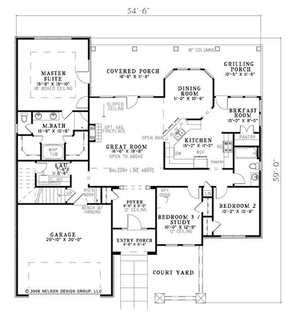 House Plan NDG-1144 Main Floor Plan