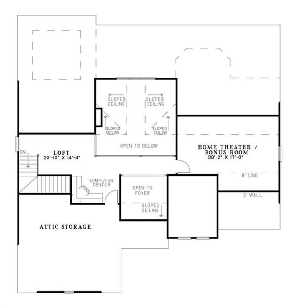 House Plan NDG-1144 Second Floor Plan