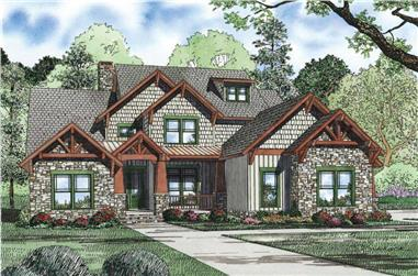 4-Bedroom, 3843 Sq Ft Craftsman Home Plan - 153-1126 - Main Exterior