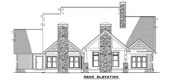 153-1126 house plan rear