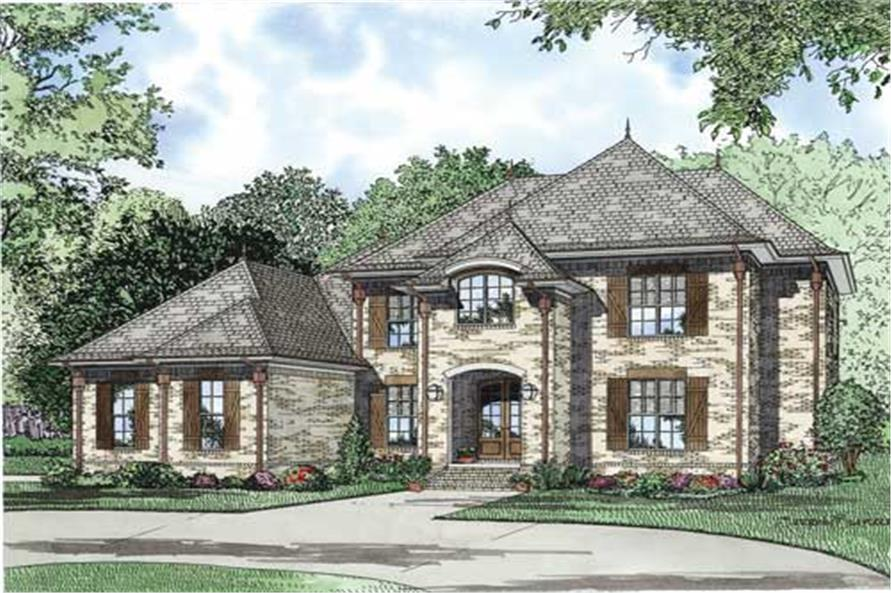 153 1127 this is a colorful front elevation of these luxury european house plans - European House Plans