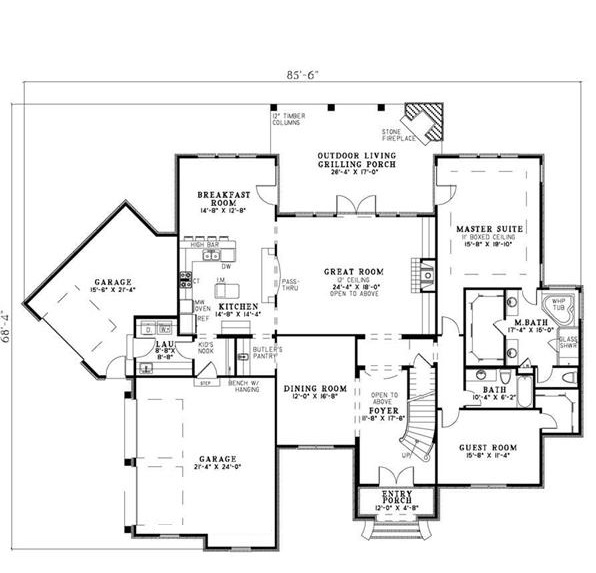 153-1127: Floor Plan Main Level