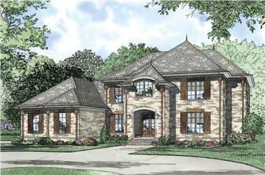 5-Bedroom, 3601 Sq Ft European Home Plan - 153-1127 - Main Exterior