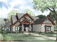 This is an artist's rendering of these Craftsman House Plans.