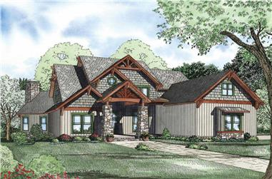 6-Bedroom, 4992 Sq Ft Craftsman Home Plan - 153-1128 - Main Exterior