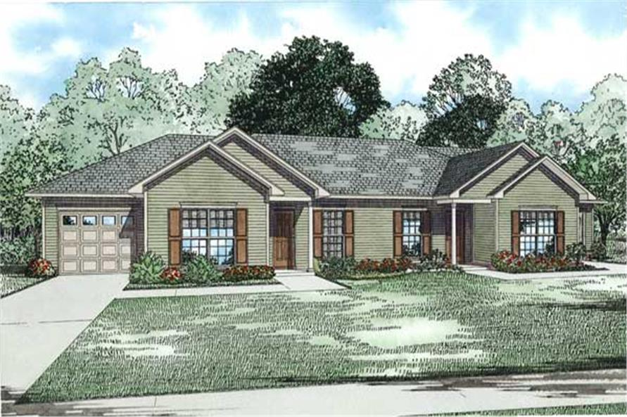 1129 Sq Ft Single Floor Home Part - 49: #153-1129 · Home Plan Front Elevation