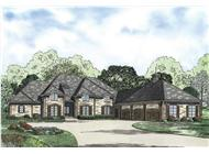 This is the colored rendering of these Luxury Home Plans.