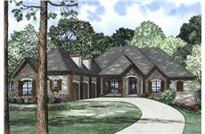 This is the front elevation for these European House Plans.