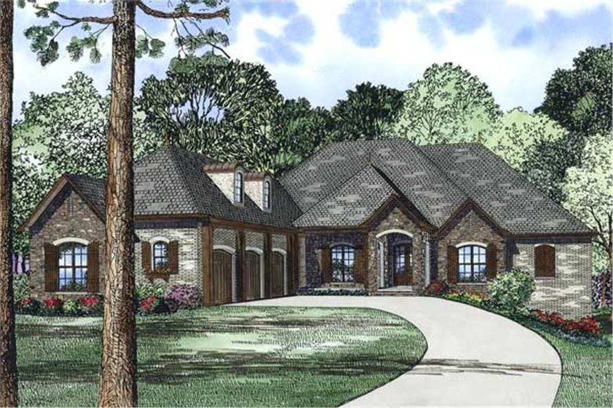 3-Bedroom, 4215 Sq Ft European House Plan - 153-1133 - Front Exterior