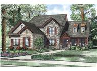 This is an artist's colorful rendering of these Craftsman Homeplans.