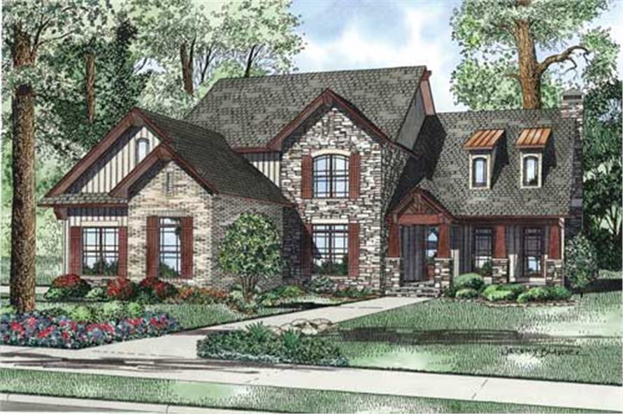 4-Bedroom, 3430 Sq Ft Craftsman Home - Plan #153-1134 - Main Exterior