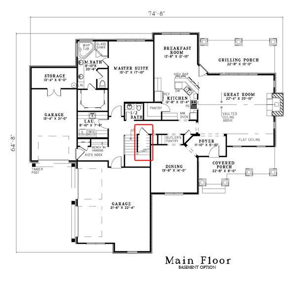 153-1134: Floor Plan Main Level