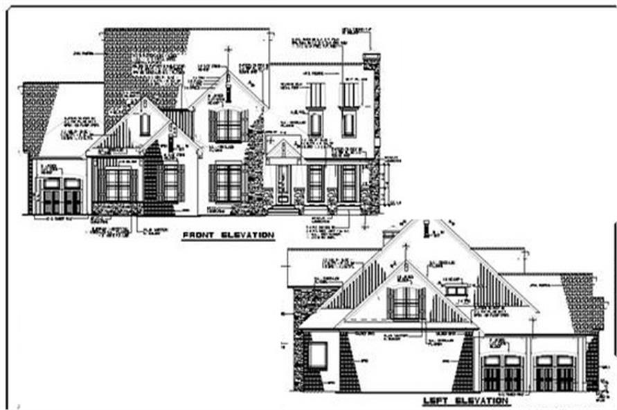 Home Plan Side Elevations of this 4-Bedroom,3430 Sq Ft Plan -153-1134