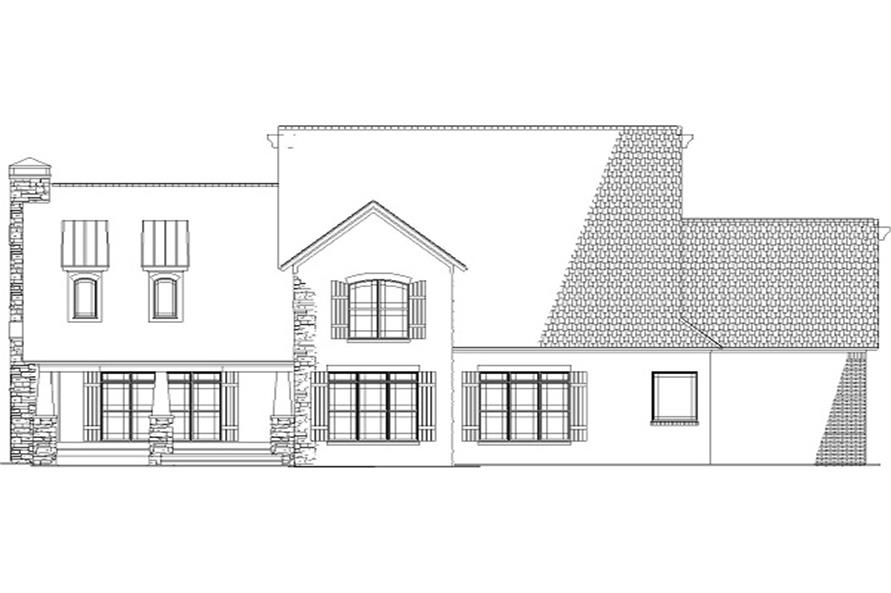 Home Plan Rear Elevation of this 4-Bedroom,3430 Sq Ft Plan -153-1134