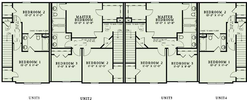 Apartment complex blueprints home design 1350 for Two story apartment floor plans