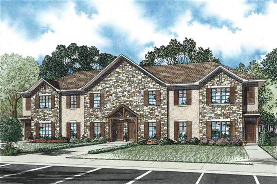4-Unit Plex Plan - 3-Bedroom, 1541 Sq Ft Each - 153-1137 - Main Exterior