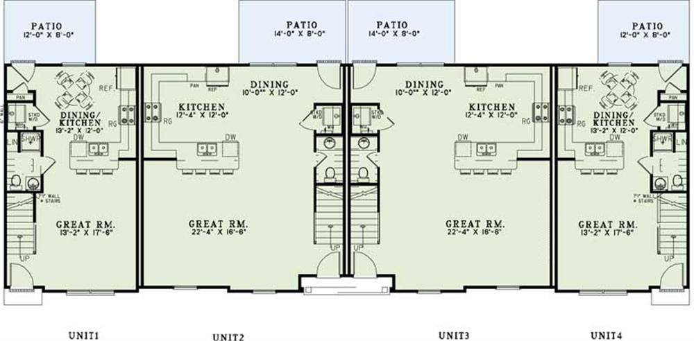Apartment complex blueprints home design 1350 for Apartment complex blueprints