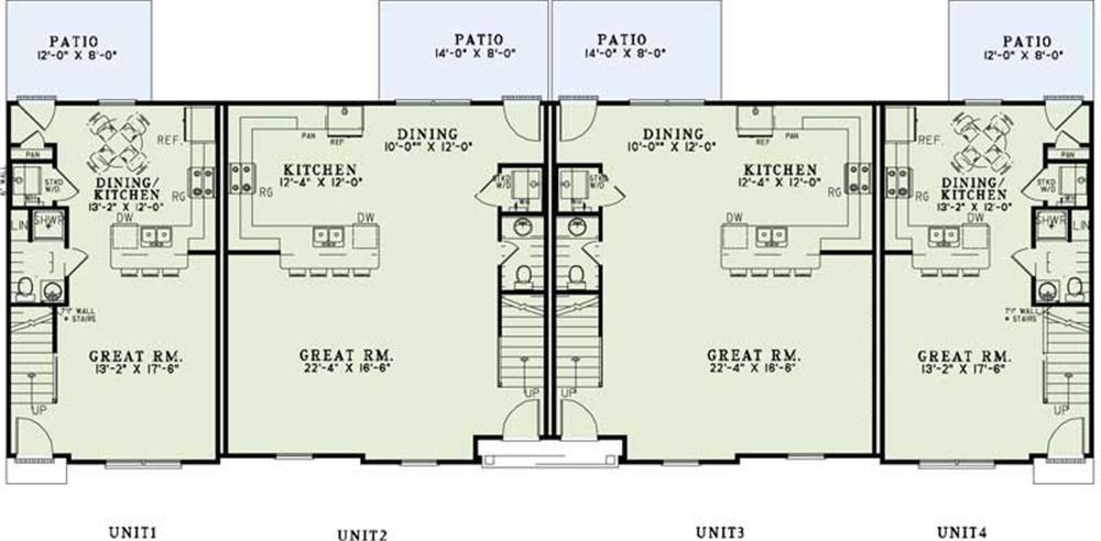 Apartment Complex Blueprints Home Design 1350