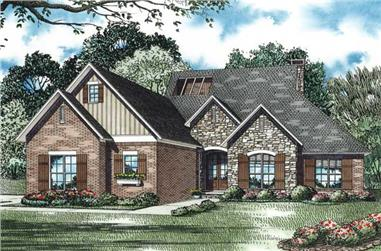 Front elevation of Country home (ThePlanCollection: House Plan #153-1138)